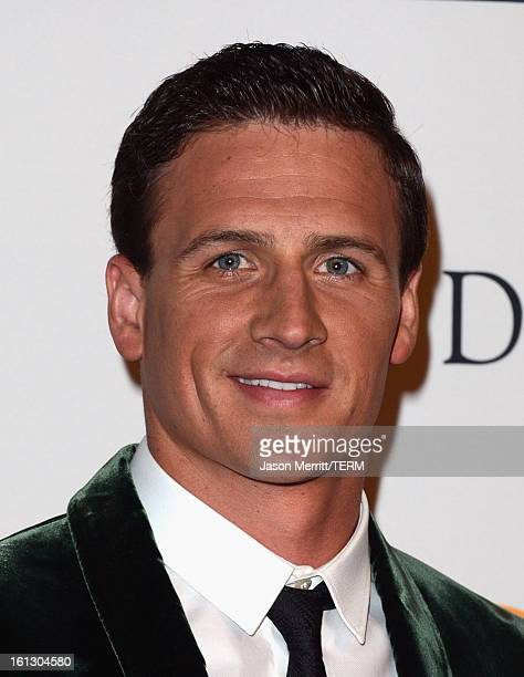 Olympian Ryan Lochte arrives at Clive Davis The Recording Academy's 2013 PreGRAMMY Gala and Salute to Industry Icons honoring Antonio LA Reid at The...
