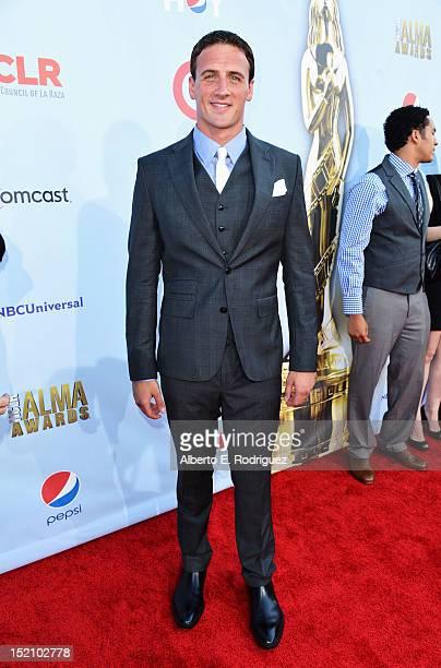 S Olympian Ryan Lochte arrives at the 2012 NCLR ALMA Awards at Pasadena Civic Auditorium on September 16 2012 in Pasadena California
