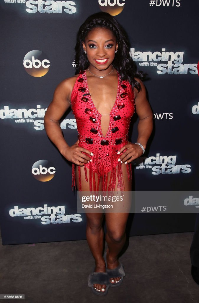 Olympian Simone Biles attends 'Dancing with the Stars' Season 24 at CBS Televison City on May 1, 2017 in Los Angeles, California.