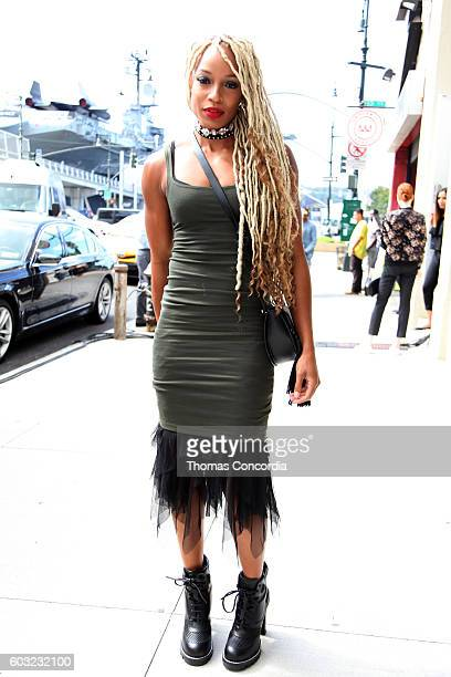 Olympian sprinter Natasha Hastings attends HSN Presents Serena Williams Signature Statement Collection Fashion Show at Kia STYLE360 New York Fashion...