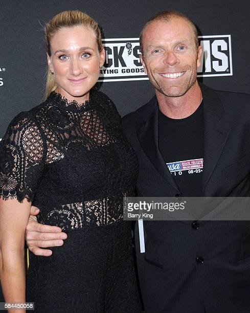 Olympian/professional beach volleyball player Kerri Walsh Jennings and husband professional beach volleyball player Casey Jennings attend the world...