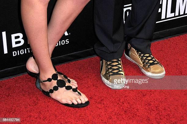 Olympian/professional beach volleyball player Kerri Walsh Jennings and husband professional beach volleyball player Casey Jennings shoe detail attend...