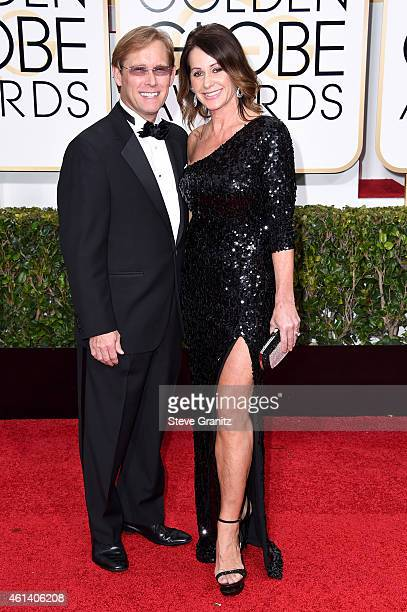 Olympians Bart Conner and Nadia Comaneci attend the 72nd Annual Golden Globe Awards at The Beverly Hilton Hotel on January 11 2015 in Beverly Hills...