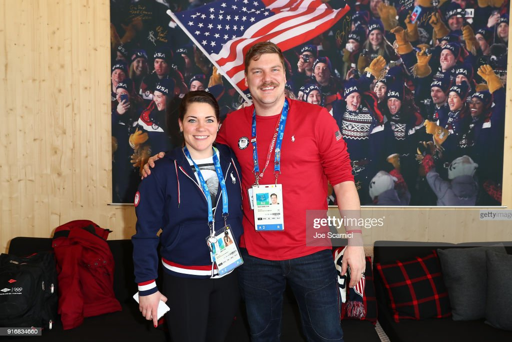 S. Olympians Becca and Matt Hamilton attend the USA House at the PyeongChang 2018 Winter Olympic Games on February 11, 2018 in Pyeongchang-gun, South Korea.