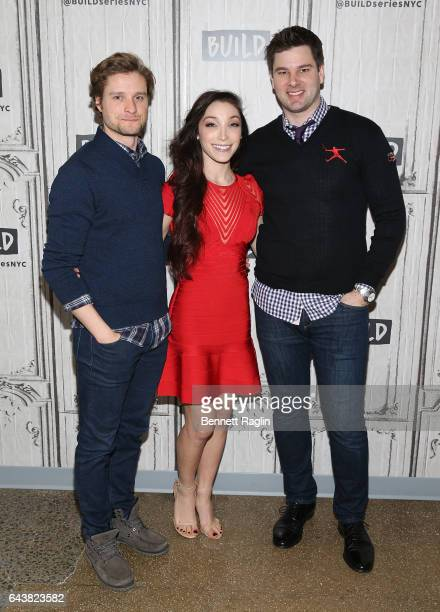 Olympians Charlie White Meryl Davis and Tim Morehouse attend the Build Series at Build Studio on February 22 2017 in New York City