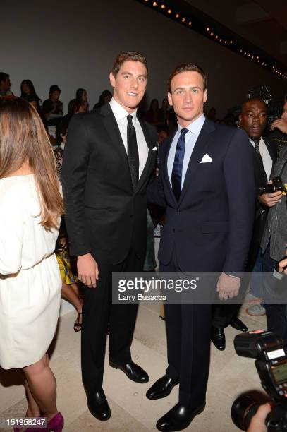 Olympians Conor Dwyer and Ryan Lochte attends the Ralph Lauren Spring 2013 fashion show during MercedesBenz Fashion Week on September 13 2012 in New...