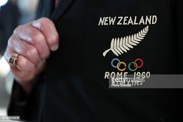 Olympians during the New Zealand Olympic Committee New Olympians Pins Presentation at Auckland Museum on October 18 2016 in Auckland New Zealand
