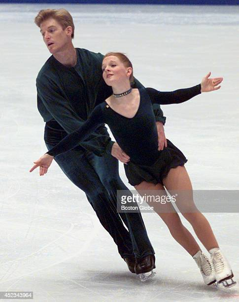 Olympians Jenni Meno and Todd Sands warm up during a practice session at the White Ring