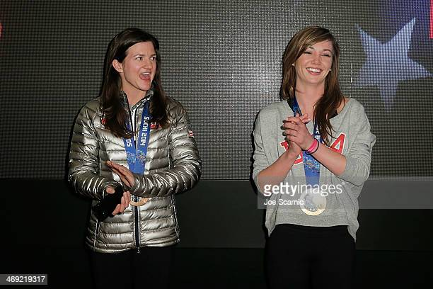 S Olympians Kelly Clark and Kaitlyn Farrington visits the USA House in the Olympic Village on February 13 2014 in Sochi Russia