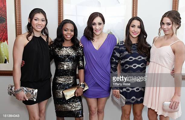 Olympians Kyla Ross Gabby Douglas Jordyn Wieber Aly Raisman and McKayla Maroney attend the Xbox NBA Baller Beats VMA Lounge Presented By Velodyne For...