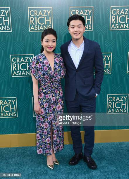 Olympians Maia Shibutani and Alex Shibutani arrive for Warner Bros Pictures' 'Crazy Rich Asians' Premiere held at TCL Chinese Theatre IMAX on August...