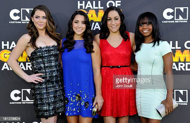 Olympians McKayla Maroney Aly Raisman Jordyn Wieber and Gabby Douglas attend the Third Annual Hall of Game Awards hosted by Cartoon Network at Barker...