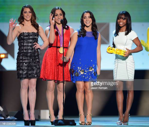 Olympians/'We Got Game' and 'Olympian Moment' nominees McKayla Maroney Jordyn Wieber Aly Raisman and Gabby Douglas attend the Third Annual Hall of...