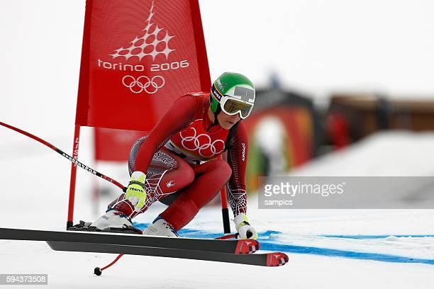 Olympiasiegerin und Gold fr Michaela Dorfmeister AUT Frauen Abfahrt Damen am 15 2 2006 olympische Winterspiele in Turin 2006 olympic winter games in...