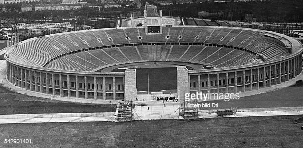 Olympiastadion Olympiade 1936 in Berlin das Stadion im Bau 1936veröffentlicht in Berliner Illustrirte Zeitung Nr 29/1936