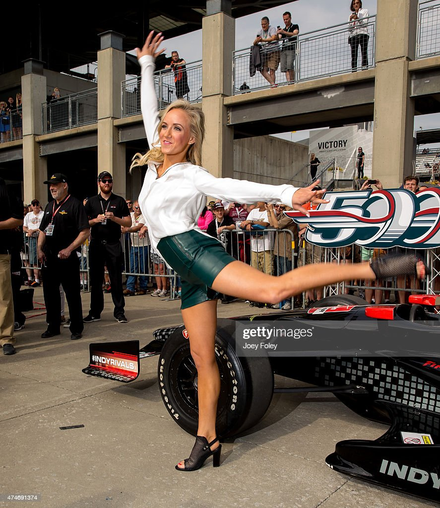 Olympic All Around Gold Medalist, Nastia Liukin attends the 2015 Indy 500 at Indianapolis Motorspeedway on May 24, 2015 in Indianapolis, Indiana.