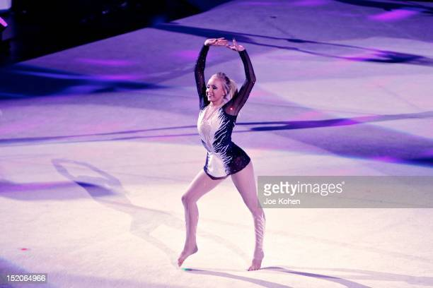 Olympic allaround champion Nastia Liukin performs live during Kellogg's Tour Of Gymnastics Champions Exhibition at Staples Center on September 15...
