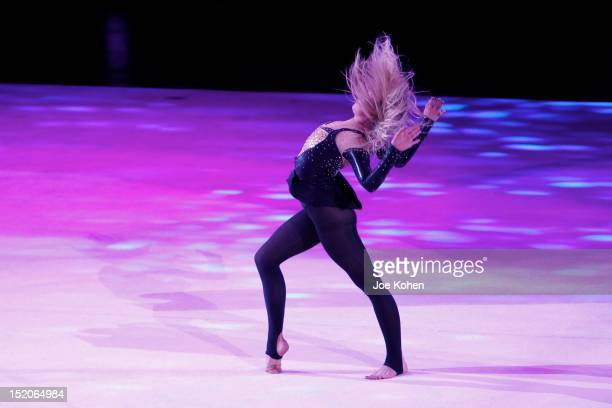 Olympic allaround champion Nastia Liukin performs live during Kellogg's Tour Of Gymnastics Champions Exhibition at Staples Center on September 15...
