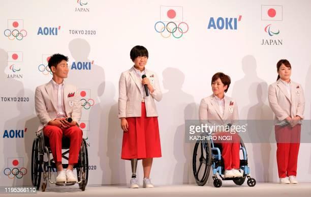 Olympic and Paralympic athletes, archery player Tomohiro Ueyama, long jumper Kaede Maegawa, triathlete Wakako Tsuchida, and weightlifter Hiromi...