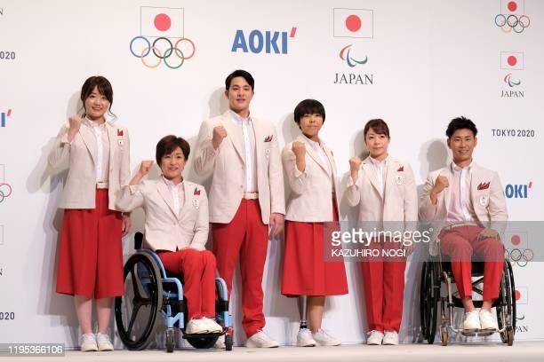 Olympic and Paralympic athletes, equestrian Akane Kuroki, triathlete Wakako Tsuchida, swimmer Daiya Seto, long jumper Kaede Maegawa, weightlifter...