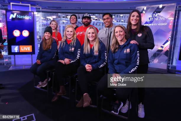 Olympic and Paralympic hopefuls Gracie Gold Joss Christensen Nikko Landeros Rico Roman and Hilary Knight Maddie Bowman Jocelyne Lamourex Monique...