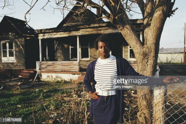 Olympic and World Heptathlon and Long Jump Champion Jackie Joyner-Kersee of the United States posing for a portrait on 20th July 1988 standing...