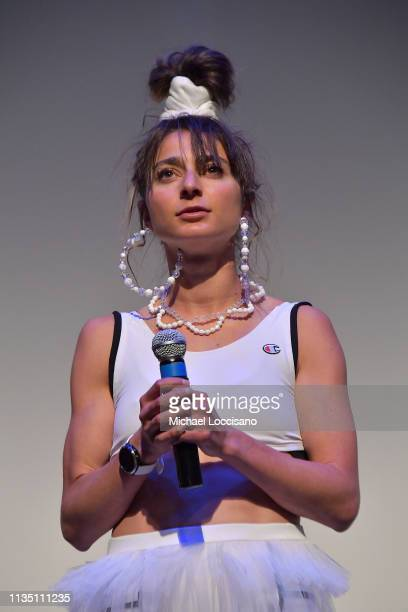 Olympic athelete actress cowriter Alexi Pappas takes part in a QA following premiere of 'Olympic Dreams' at ZACH Theatre on March 10 2019 in Austin...