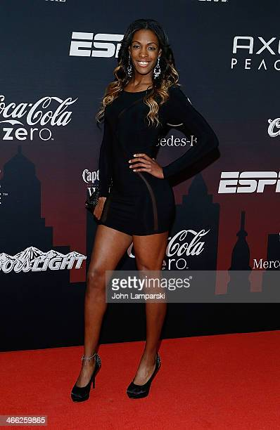 Olympic athelete DeeDee Trotter attends 2014 ESPN The Party at Pier 36 on January 31 2014 in New York City