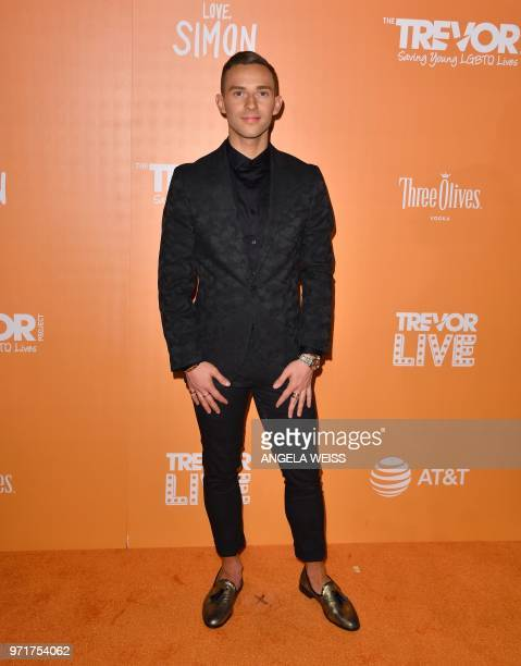 US olympic athlete Adam Rippon attends The Trevor Project's TrevorLIVE New York at Cipriani Wall Street on June 11 2018 in New York City