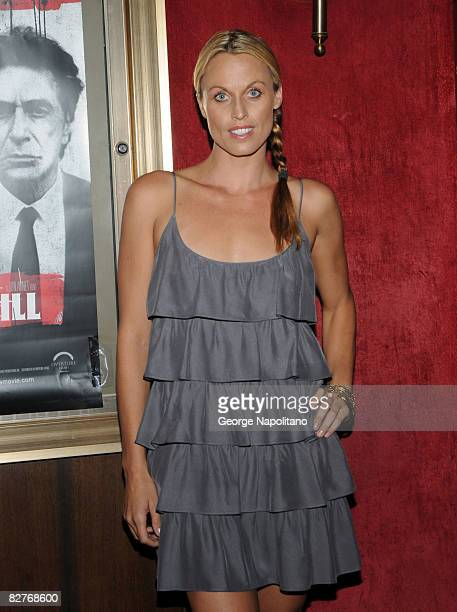 Olympic athlete and model Amanda Beard attends the New York premiere of 'Righteous Kill' at the Ziegfeld Theater on September 10 2008 in New York City
