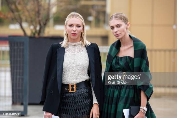 Olympic athlete Angelika Timanina wears all Dior with Model Yasmina Muratovich wearing all Dior on September 24 2019 in Paris France