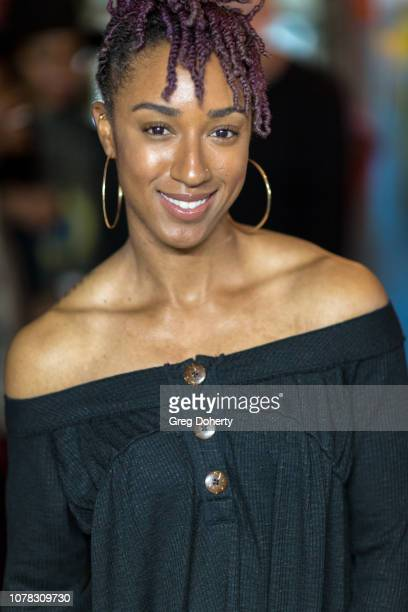 Olympic Athlete Brianna McNeal attends The Artists Project Present El Motas and The Art Show on January 5 2019 in Los Angeles California