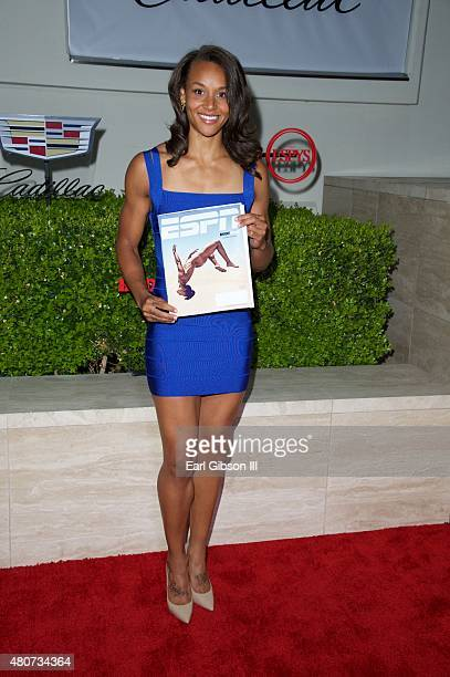 Olympic athlete Chantae McMillan attends BODY at ESPYs at Milk Studios on July 14 2015 in Los Angeles California
