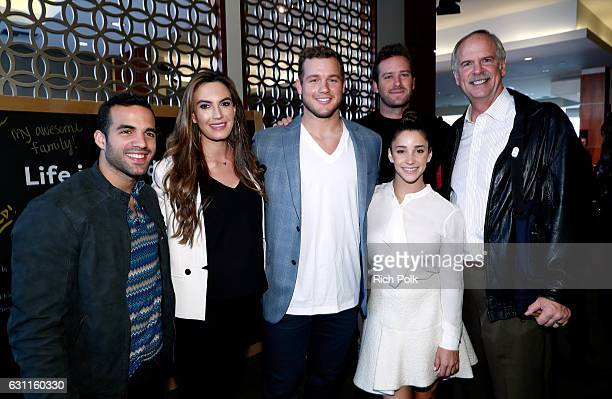 Olympic athlete Danell Leyva actress Elizabeth Chambers actor Armie Hammer NFL player Colton Underwood Olympic athletes Aly Raisman and Olympic...