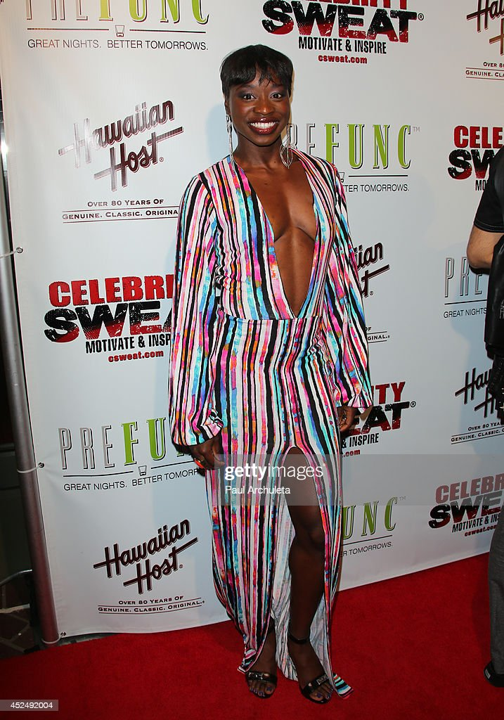 Olympic Athlete Jeneba Tarmoh attends Evander Holyfield's ESPYS Awards after party on July 16, 2014 in Los Angeles, California.