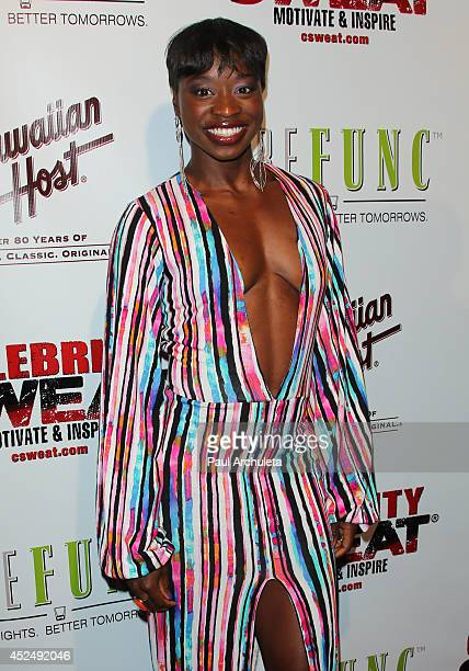 Olympic Athlete Jeneba Tarmoh attends Evander Holyfield's ESPYS Awards after party on July 16 2014 in Los Angeles California