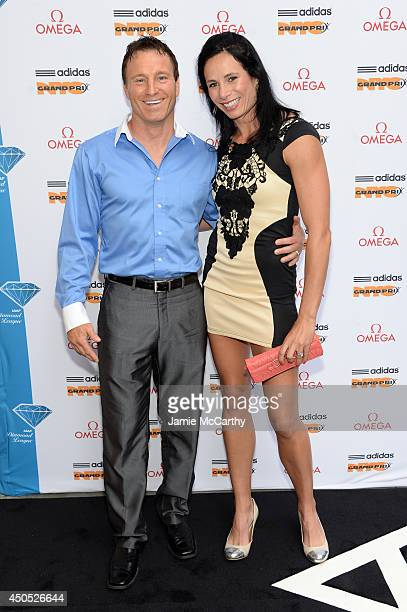 Olympic athlete Jenn Suhr and Rick Suhr attend the adidas Grand Prix celebration hosted by OMEGA at the OMEGA Fifth Avenue Boutique on June 12 2014...