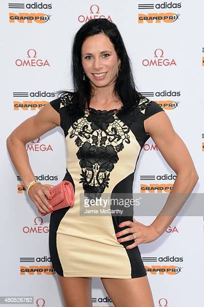 Olympic athlete Jenn Suhr attends the adidas Grand Prix celebration hosted by OMEGA at the OMEGA Fifth Avenue Boutique on June 12 2014 in New York...