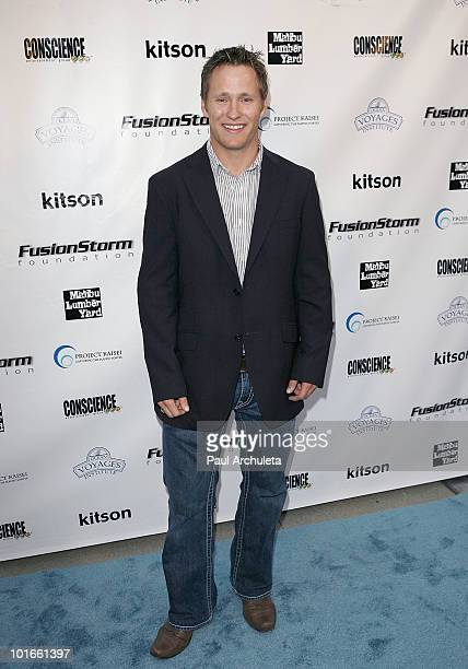 Olympic athlete Jeret Speedy Peterson arrives at the 1st annual My Ocean Planet fundraiser benefitting project Kaisei at The Malibu Lumber Yard on...