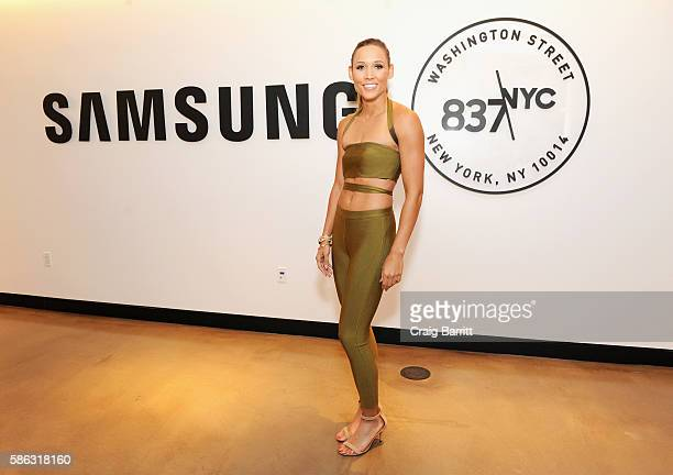 Olympic athlete Lolo Jones attends a 'Rio Remotely' event celebrating the 2016 Olympic Opening Ceremony at Samsung 837 on August 5 2016 in New York...