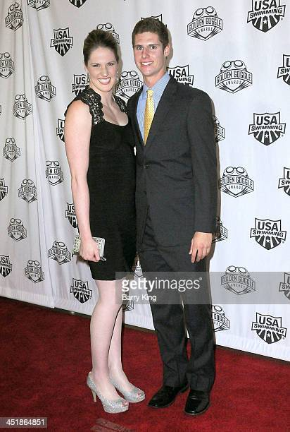 Olympic Athlete Missy Franklin and Daniel Butler attend the 2013 Golden Goggle Awards on November 24 2013 at JW Marriott Los Angeles Hotel at LA LIVE...