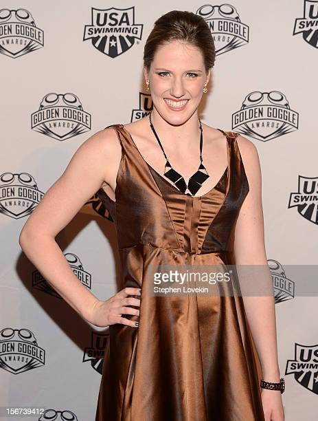 Olympic athlete Missy Franklin attends the 2012 Golden Goggle awards at the Marriott Marquis Times Square on November 19 2012 in New York City