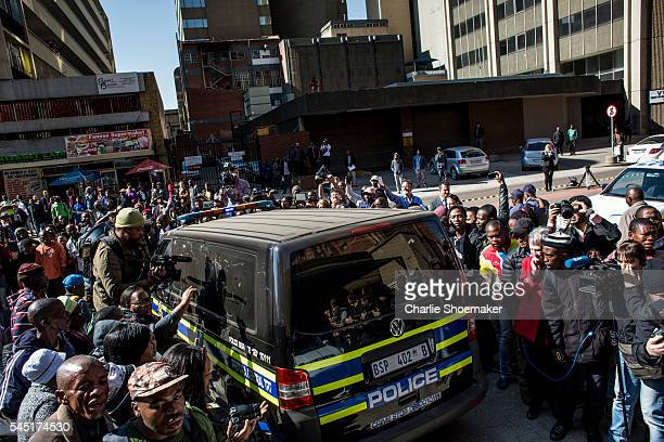 Olympic athlete Oscar Pistorius leaves the North Gauteng High Court after sentencing on July 6, 2016 in Pretoria, South Africa. Pistorius was...