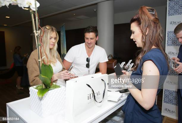 Olympic athlete Ryan Lochte and Kayla Rae Reid attend Kari Feinstein's PreOscar Style Lounge at the Andaz Hotel on February 23 2017 in Los Angeles...