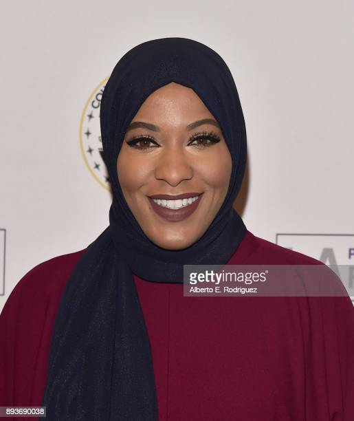 Olympic Athlete/designer Ibthaj Muhammad attends the LA Promise Fund's 'Girls Build Leadership Summit' at The Los Angeles Convention Center on...