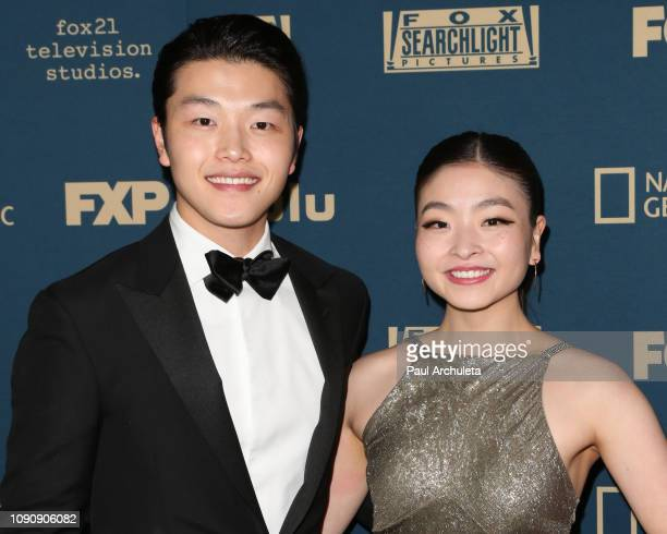 Olympic Athletes Alex Shibutani and Maia Shibutani attend the FOX FX and Hulu 2019 Golden Globe Awards after party at The Beverly Hilton Hotel on...