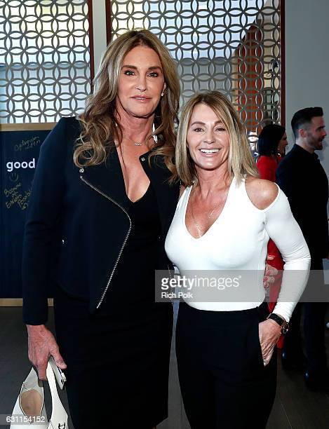 Olympic athletes Caitlyn Jenner and Nadia Comaneci attend Life is Good at GOLD MEETS GOLDEN Event at Equinox on January 7 2017 in Los Angeles...