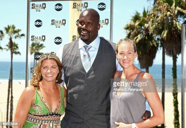 Olympic beach volleyballs champion Misty May-Treanor and Kerri Walsh and NBA player Shaquille O'Neal attend a press conference for ABC's new reality...