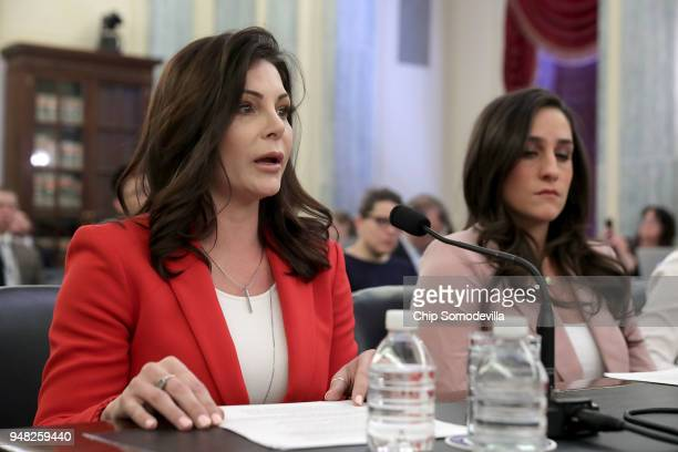 Olympic bronze medal gymnast Jamie Dantzcher testifies about her sexual abuse at the hands of team doctor Larry Nassar during a hearing of the Senate...