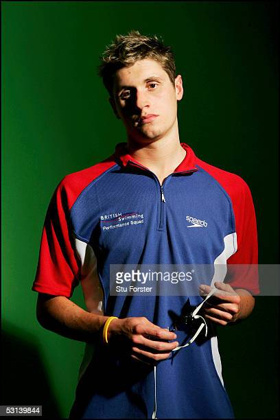 Olympic bronze medalist Swimmer David Davies pictured at The Institute of Sport on June 22 2005 in Cardiff Wales